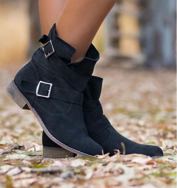 botas texas pretas com fivelas para mulheres