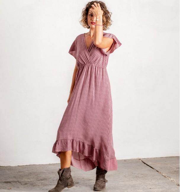 236/5000 boho rose dress with autumn print