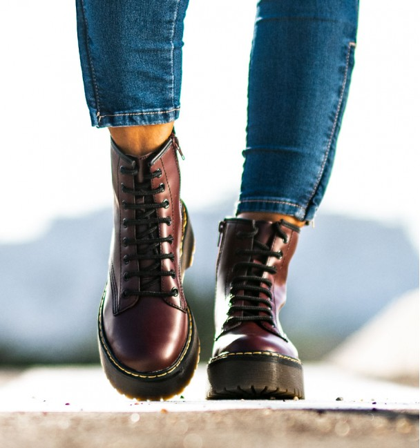 burgundy military style boot alexander