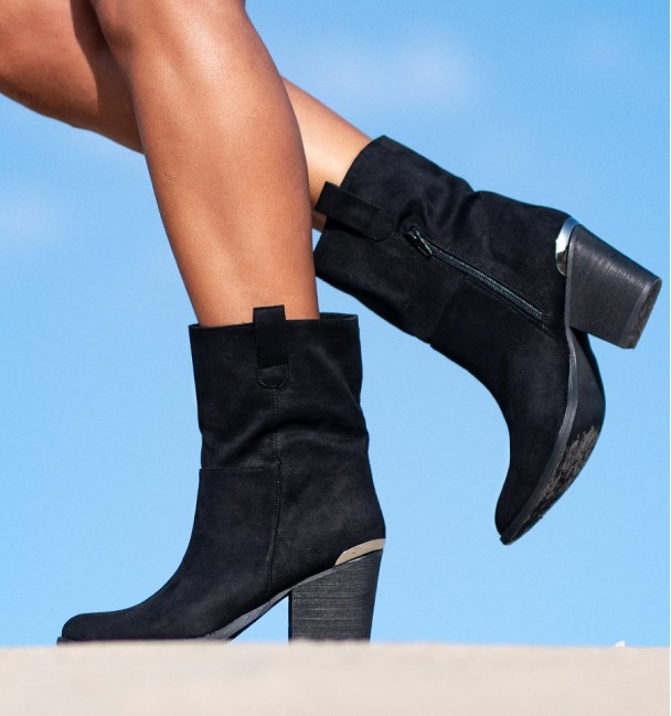 black low boots for women lus