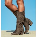 Taupe Boots Luse