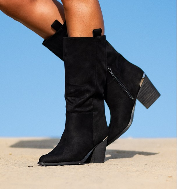 black style country boot for women Luse