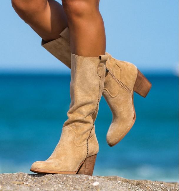 yoho beige boots for women