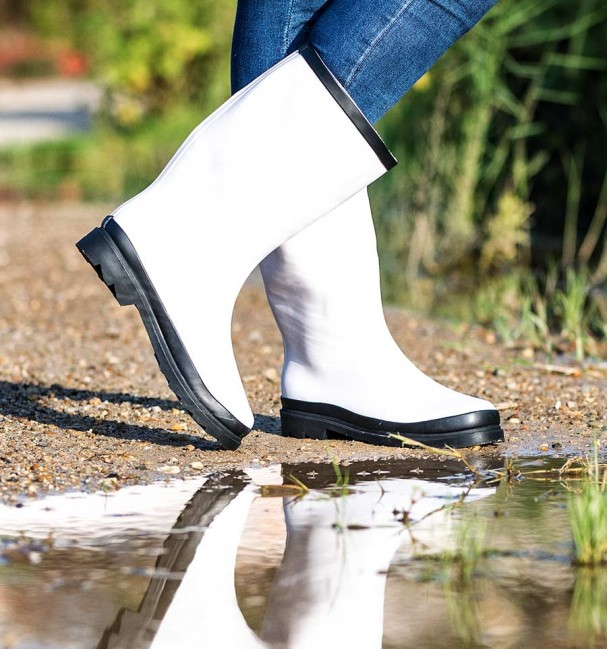 Botas de agua Blanco-Negro