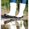 Water boots Black-White Rain