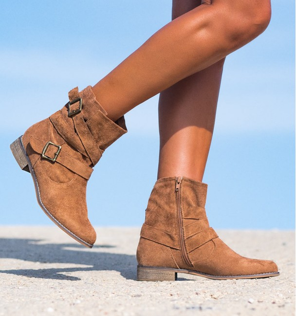 Texan camel low boots