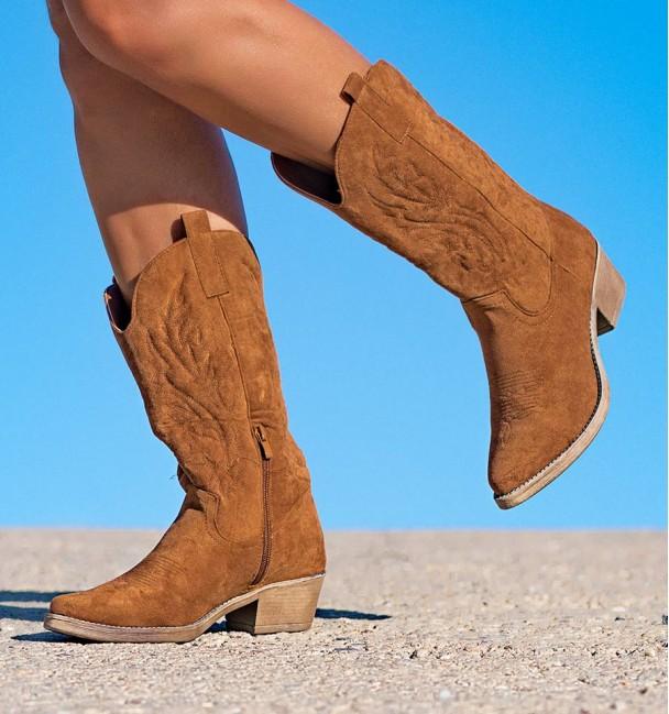 Nanda Camel Boots