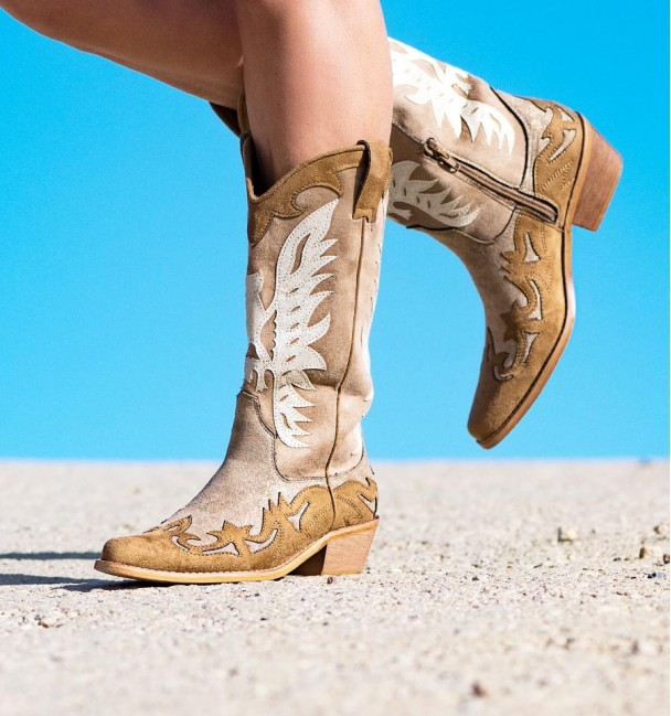 Cayma Camel Gold Boots