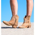 Manao Camel Ankle Boots