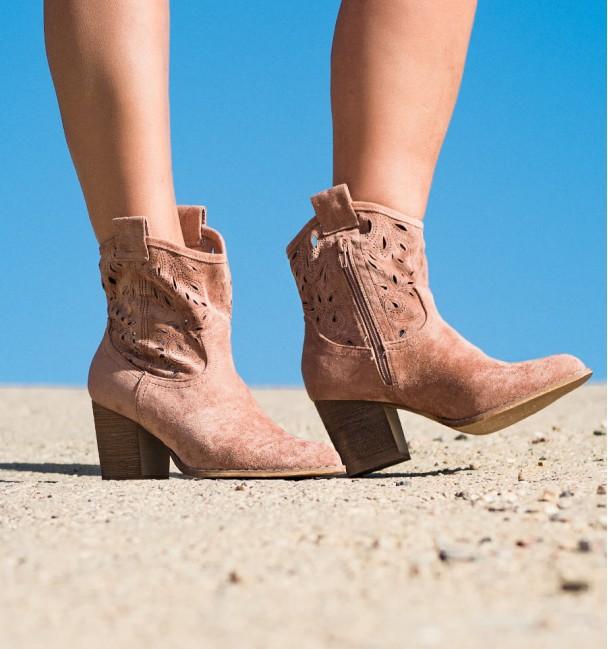 Lambay Pink Boho Boots