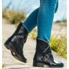 Zag Black Flat Boots