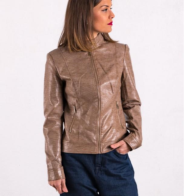 Oasis khaki Biker Jacket Woman