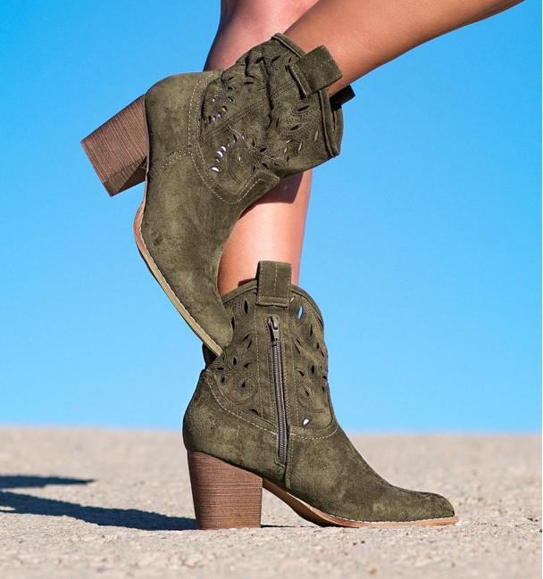 Lambay Green Cowboy Boots