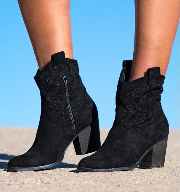 Lambay Black Boho Boots