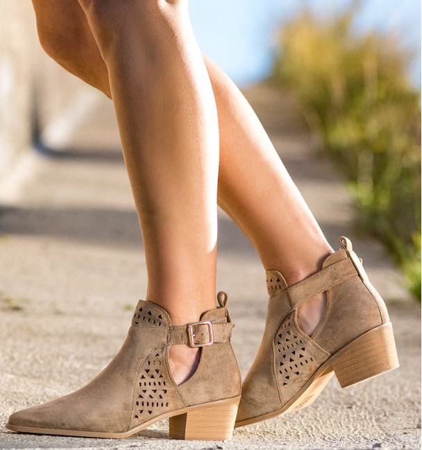 Cameron Beige Ankle Spring Boots
