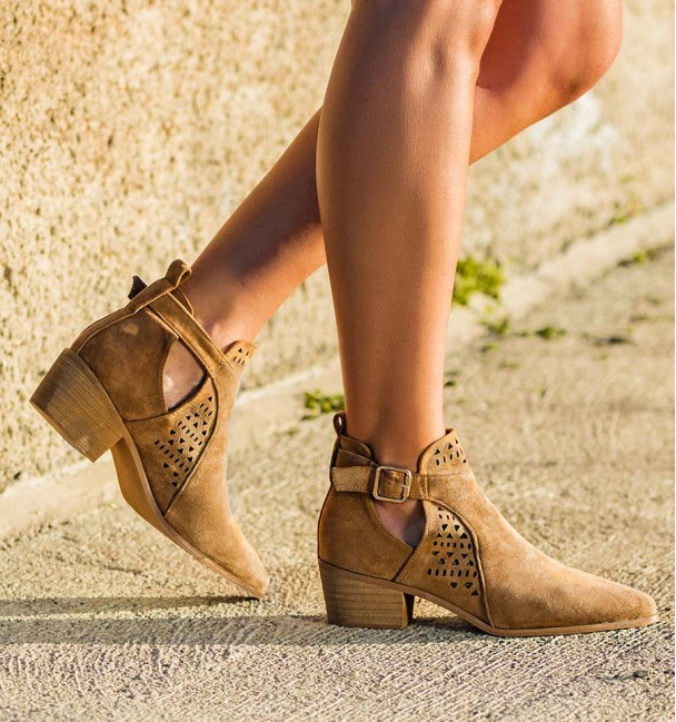 Cameron Camel Spring Ankle Boots