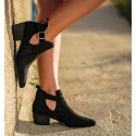 Cameron Black Ankle Boots